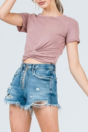 Active Basic Twist Crop Top - Product Mini Image