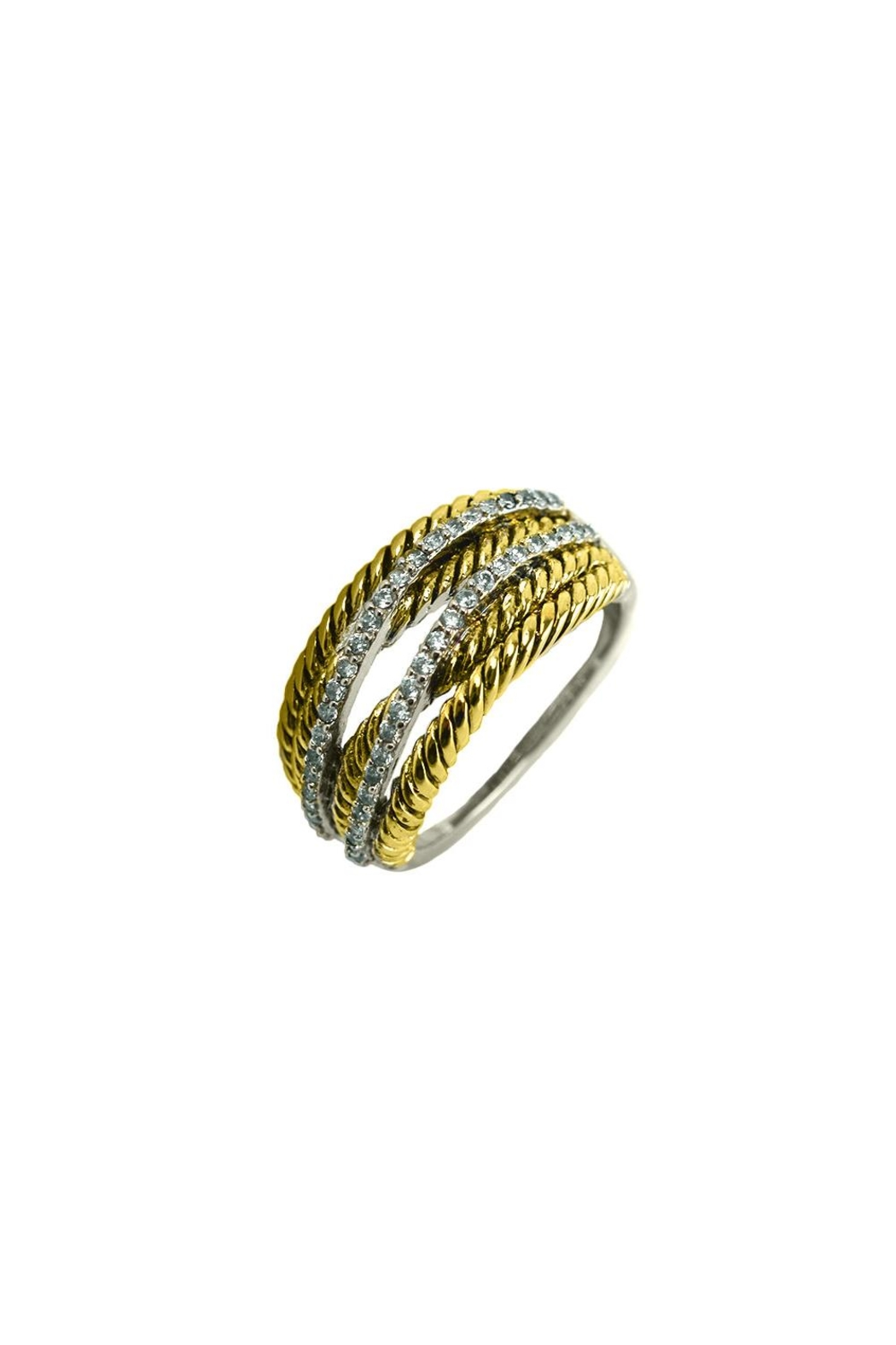 Embellish Twist Cz Ring - Front Cropped Image