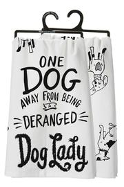 Twist Dog Lady Towel - Front cropped