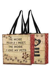 Twist Dog Market Tote - Front cropped