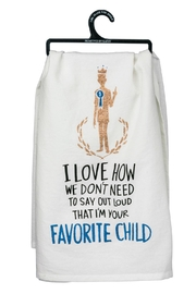 Twist Favorite Child Towel - Front cropped