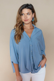 Pinch TWIST FRONT BUTTON UP BLOUSE - Product Mini Image