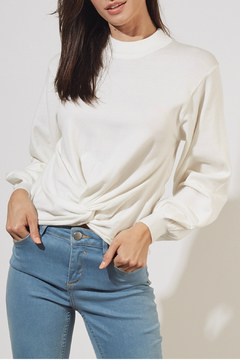 mustardseed Twist-front crop top - Product List Image