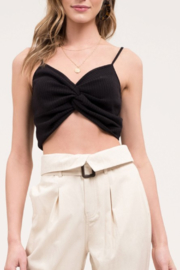 Blu Pepper Twist Front Crop Top - Product Mini Image