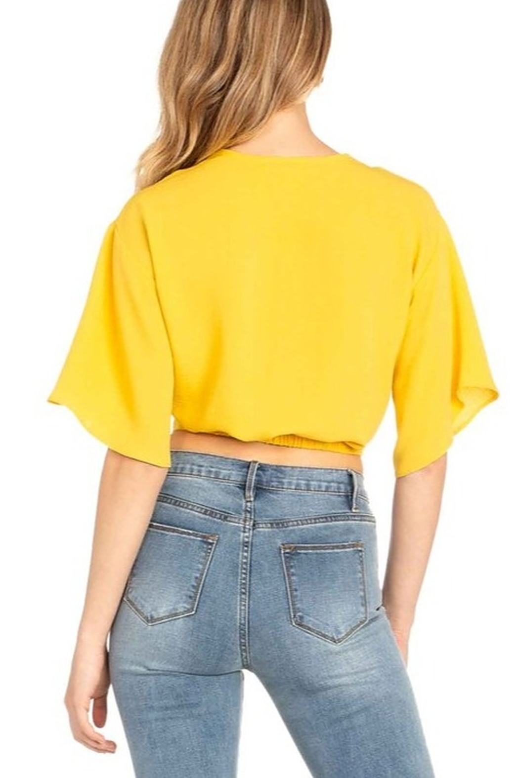 Dance and Marvel Twist Front Crop Top - Side Cropped Image
