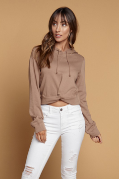 Heart and Hips Twist Front Cropped Hoodie - Product List Image