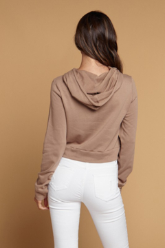 Heart and Hips Twist Front Cropped Hoodie - Alternate List Image