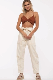 Just One Answer Twist Front Cropped Top - Product Mini Image