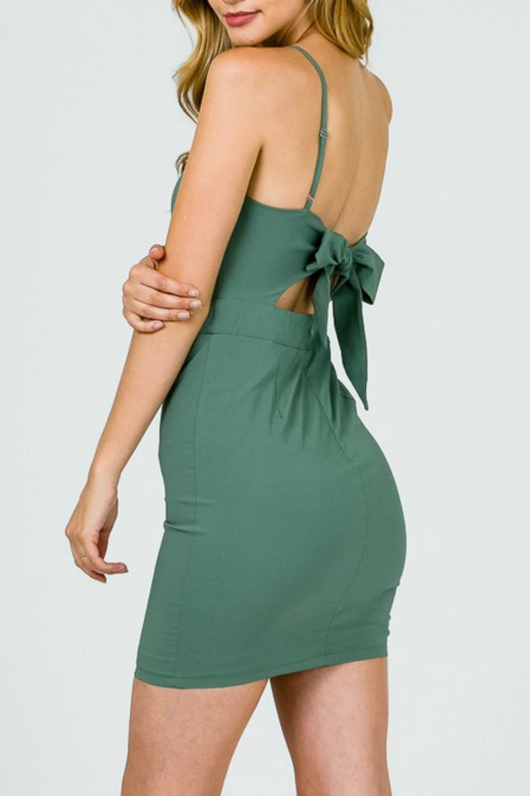 Pretty Little Things Twist Front Dress - Front Full Image