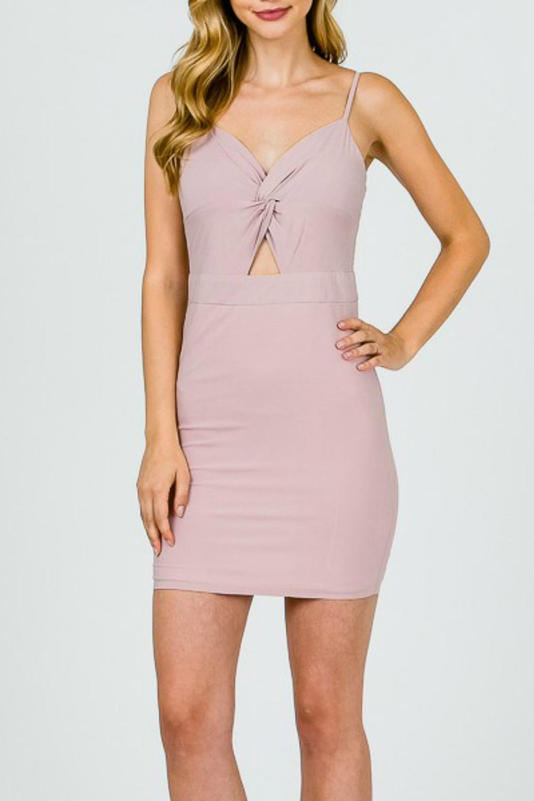 Pretty Little Things Twist Front Dress - Front Cropped Image