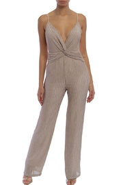 luxxel Twist-Front Knit Jumpsuit - Product Mini Image
