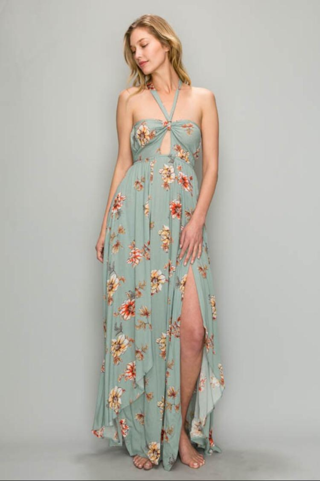 9c86f58859d AAKAA Twist Front Maxi from Los Angeles by Chikas — Shoptiques
