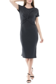 Blues & Greys  Twist Front Midi Dress - Product Mini Image