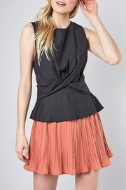 Do & Be Twist Front Peplum Top - Front cropped