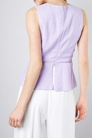 Do & Be Twist Front Peplum Top - Side cropped