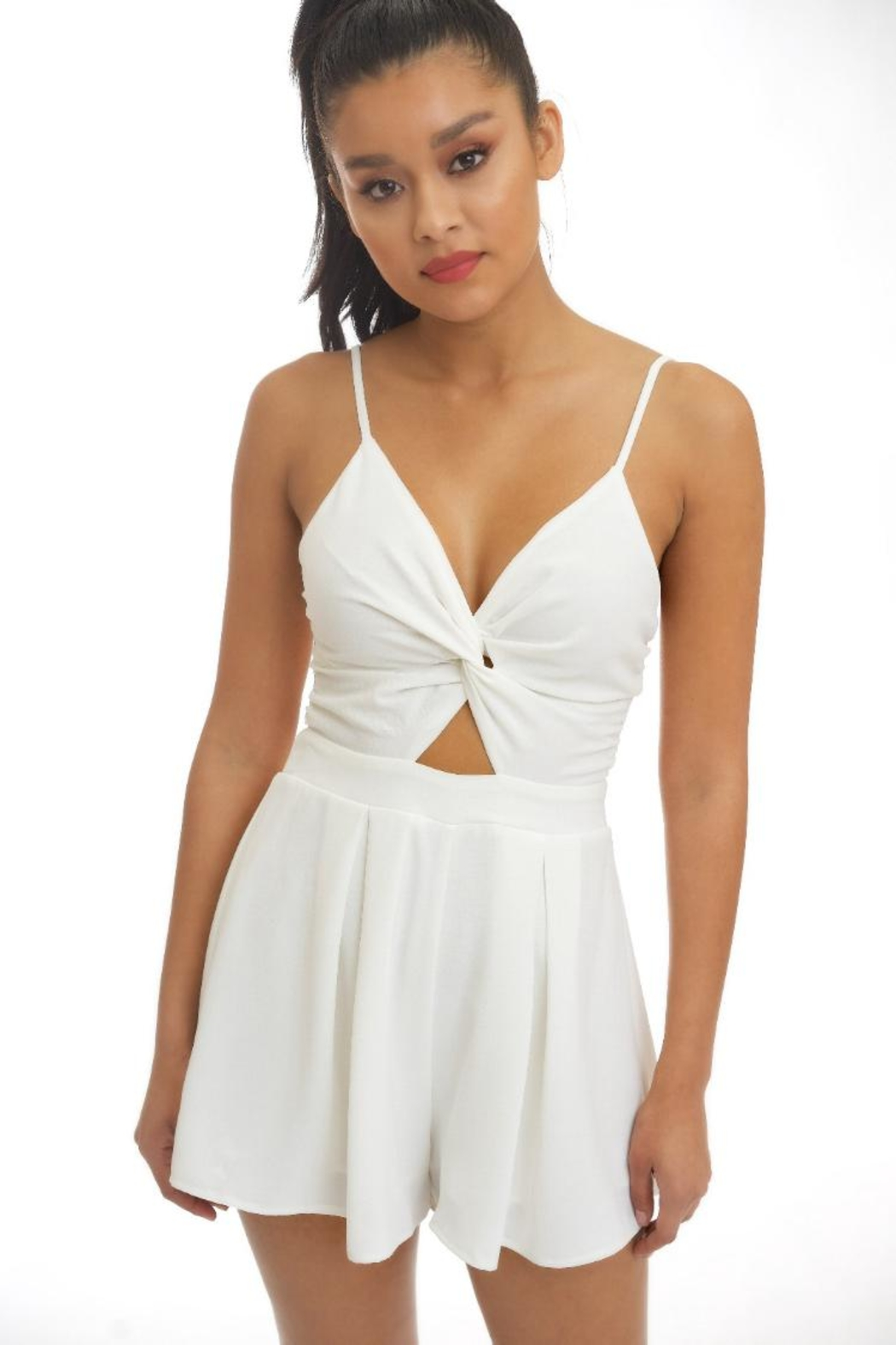 luxxel Twist Front Romper - Main Image