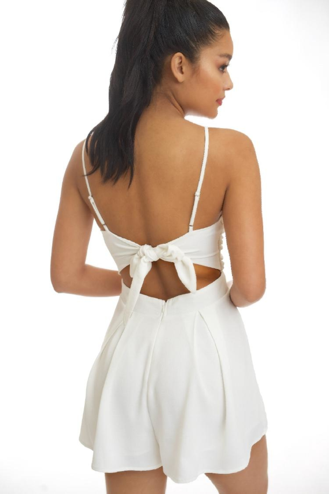 luxxel Twist Front Romper - Front Full Image
