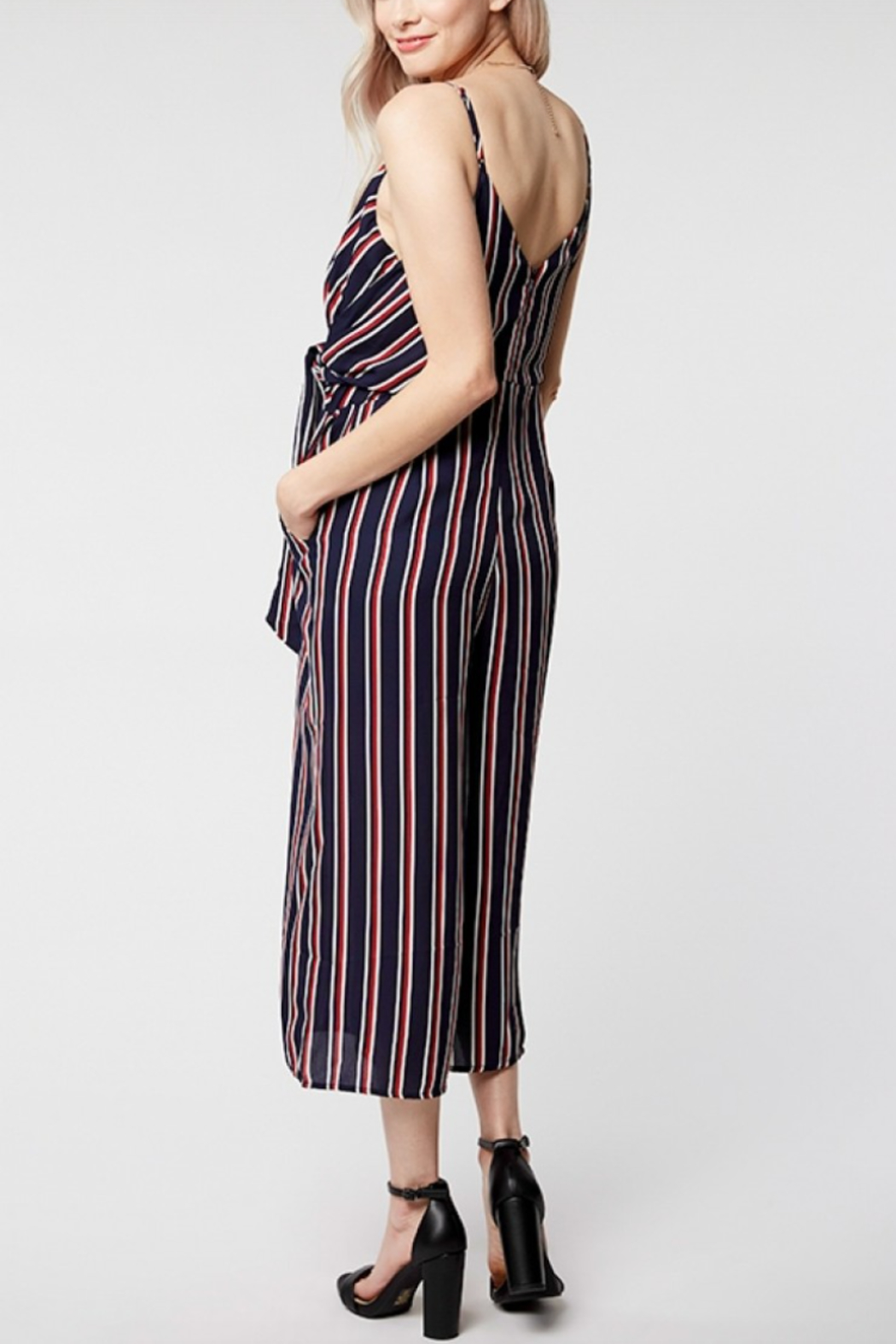 Everly Twist Front Stripe Jumper - Front Full Image