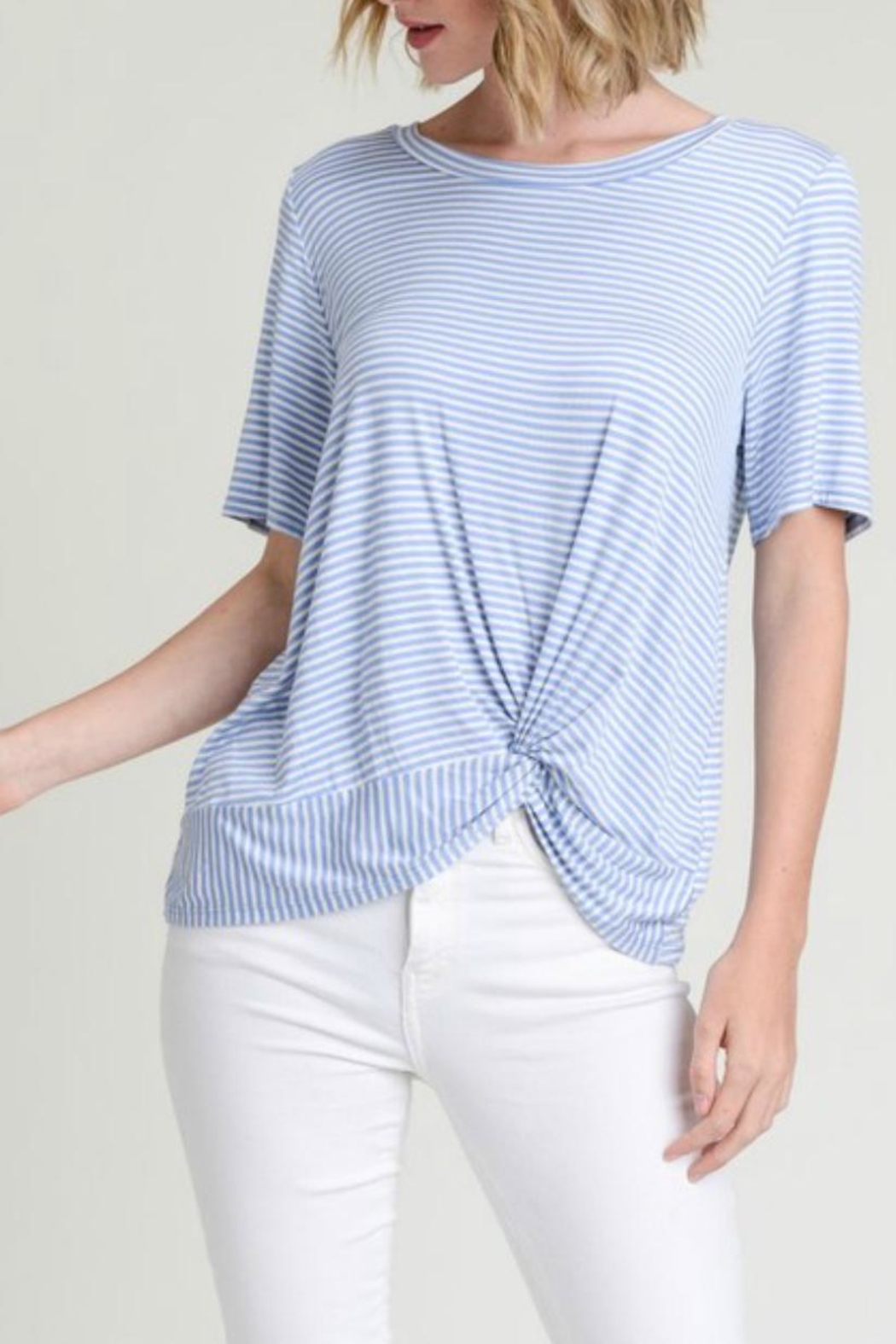 Jodifl Twist-Front Striped Tee - Front Cropped Image