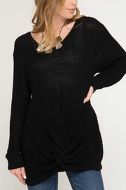 She + Sky Twist Front Sweater - Product Mini Image