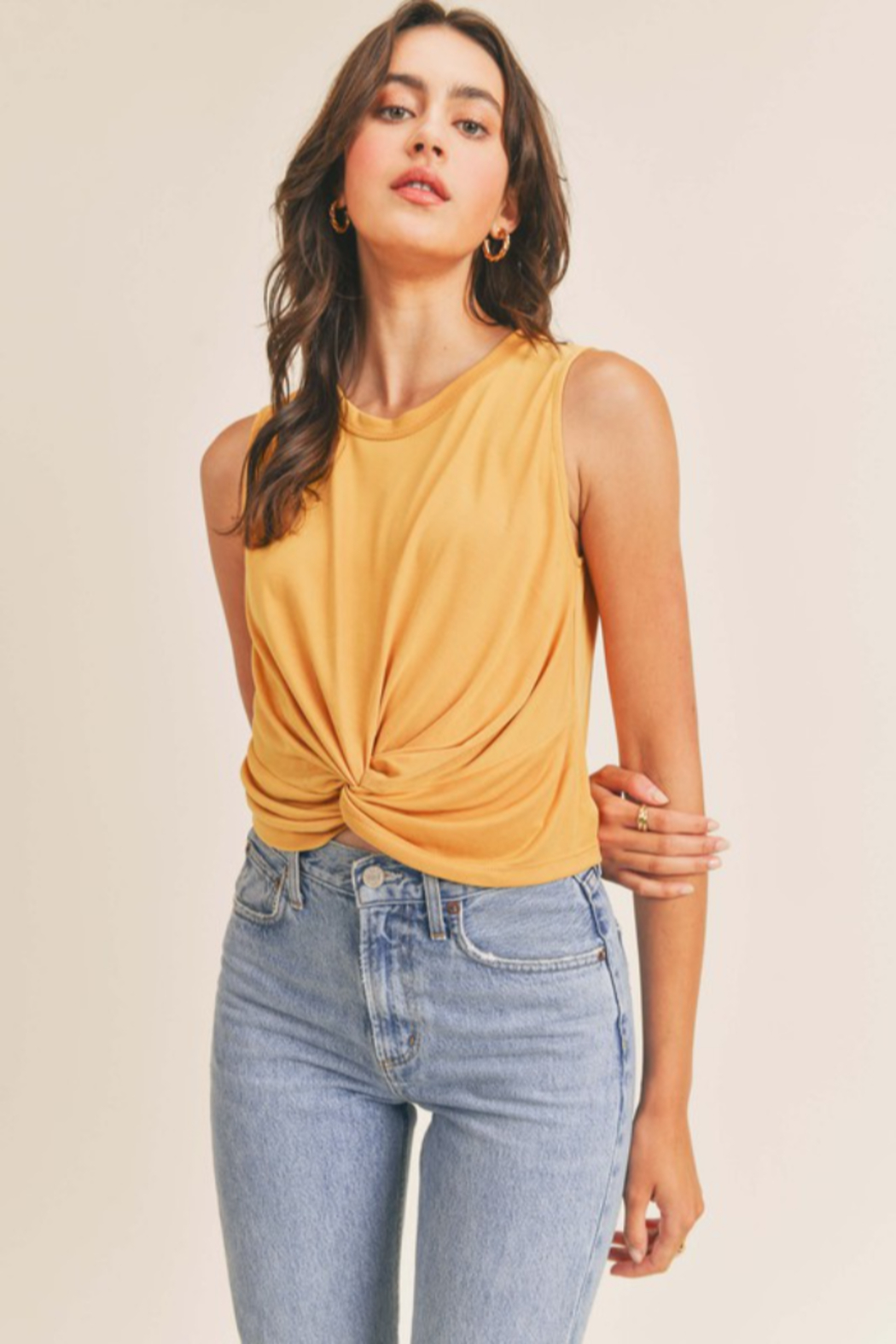 Lush  Twist Front Tank - Front Cropped Image