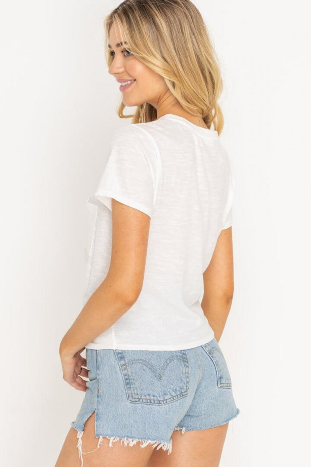 Lush Twist Front Tee - Back Cropped Image