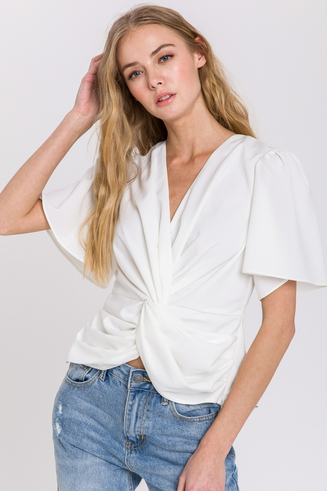 Endless Rose Twist Front Top - Front Cropped Image