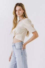 Endless Rose Twist Front Top - Front full body