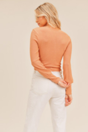 Lush  Twist Front Top - Front full body