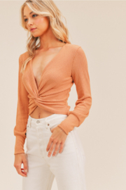 Lush  Twist Front Top - Front cropped