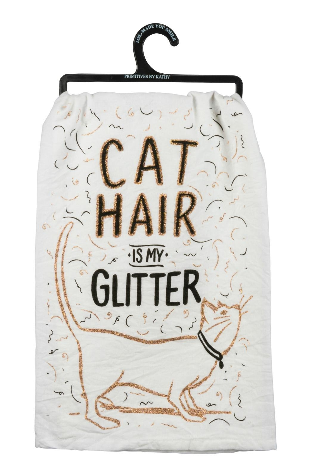 Twist Glitter Cat Towel - Main Image