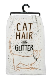 Twist Glitter Cat Towel - Front cropped