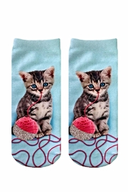 Twist Glitter Kitten Socks - Product Mini Image