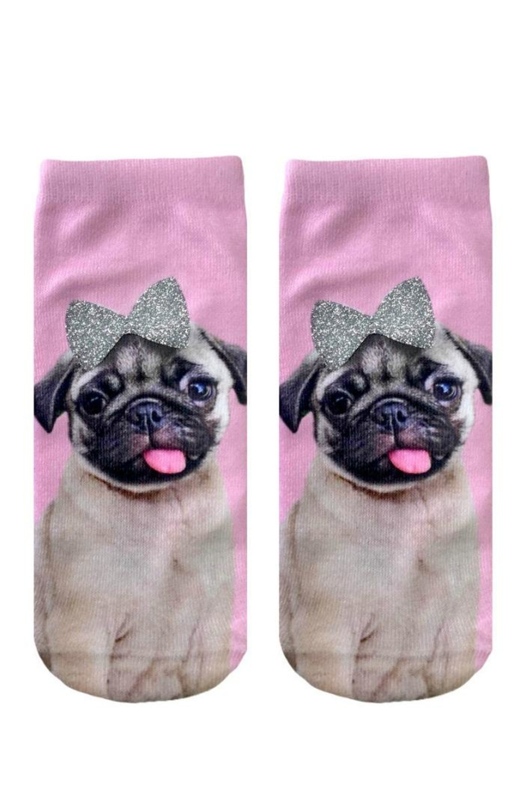 Twist Glitter Pug Socks - Main Image