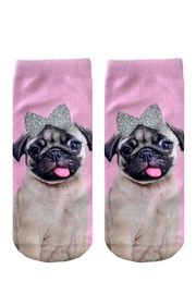 Twist Glitter Pug Socks - Product Mini Image