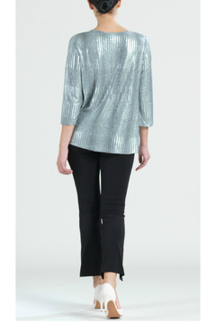 Clara Sunwoo Twist Hem Silver Top - Alternate List Image