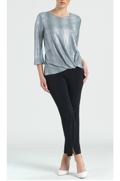 Clara Sunwoo Twist Hem Silver Top - Product List Image