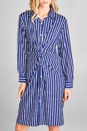 Racine Twist-Knot-Front Shirt Dress - Product Mini Image