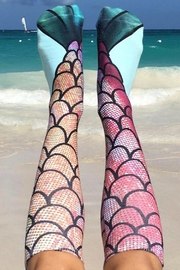Twist Mermaid Knee Socks - Product Mini Image