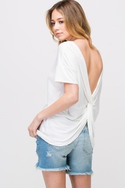 Les Amis Twist On-A-White Top - Side cropped