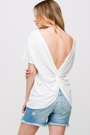 Les Amis Twist On-A-White Top - Front full body
