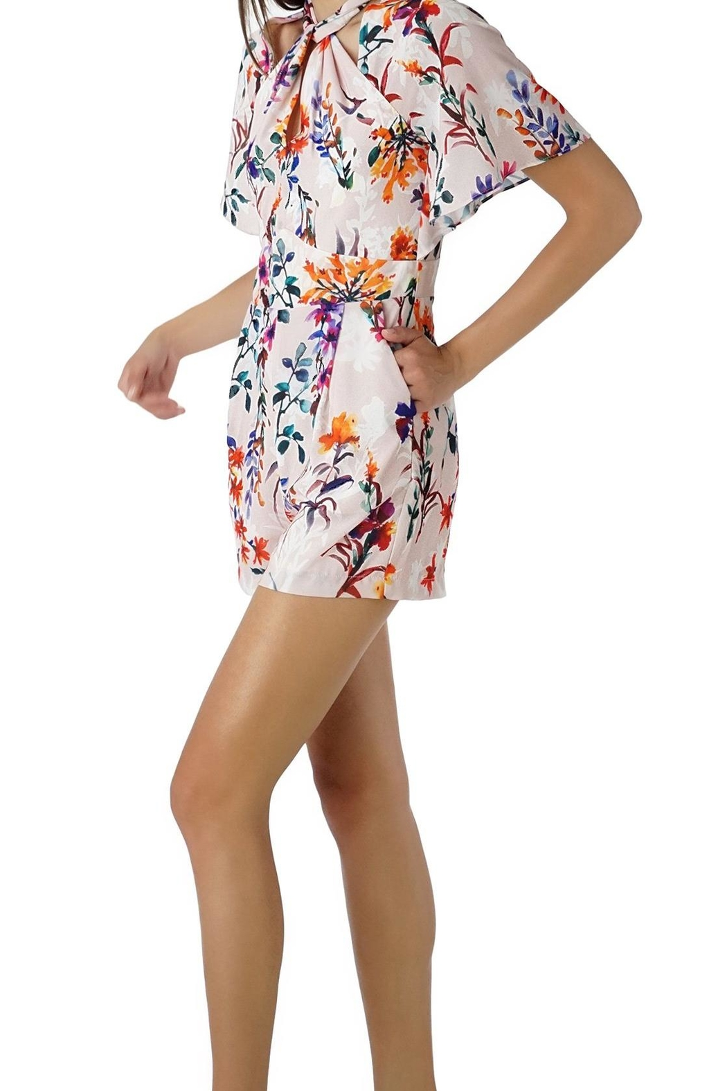 Adelyn Rae Twist Print Romer - Front Cropped Image