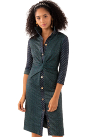 Gretchen Scott Twist & Shout Dress-Diamond Dot Foulardio - Product Mini Image