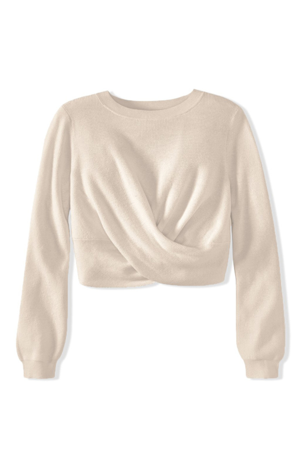 525 America TWIST TOP SWEATER PULLOVER - Side Cropped Image