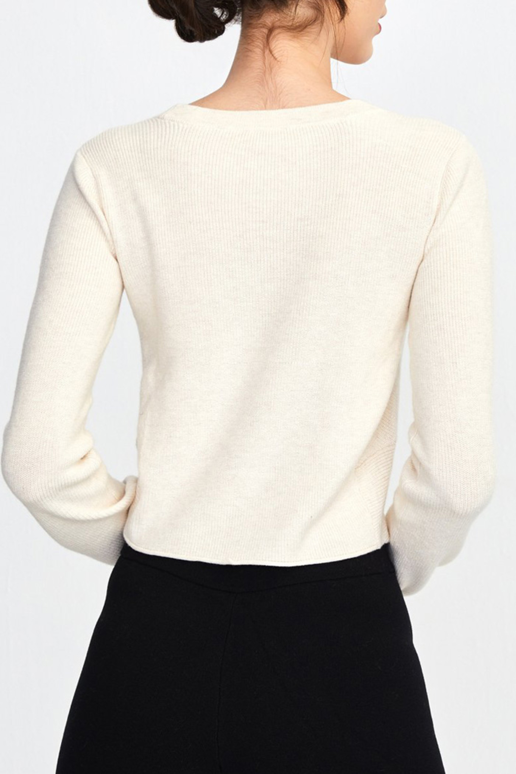 525 America TWIST TOP SWEATER PULLOVER - Front Full Image