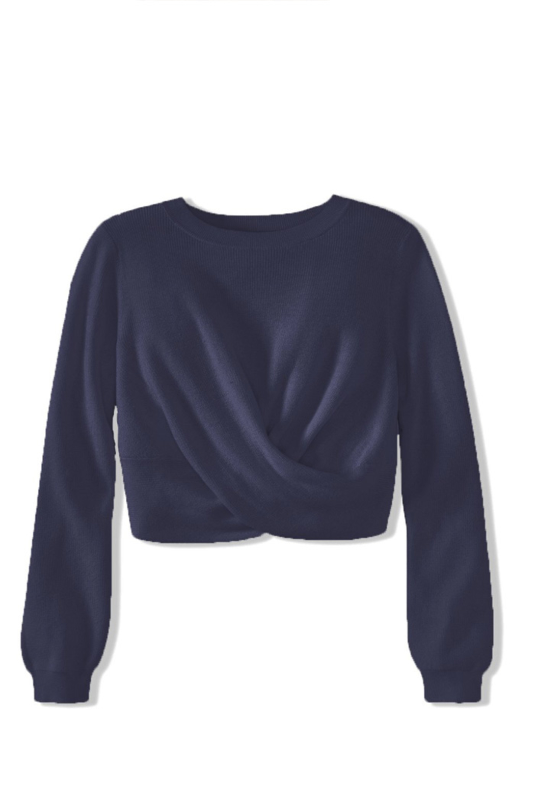 525 America TWIST TOP SWEATER PULLOVER - Front Cropped Image