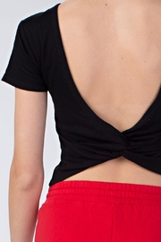 Honey Punch Twisted Back Tee - Side cropped