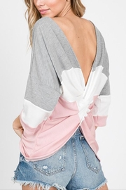 Lovely Melody Twisted Back Top - Product Mini Image