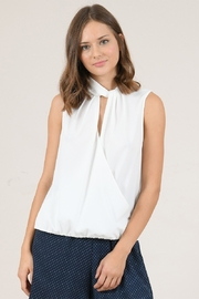 Molly Bracken Twisted Collar Top - Product Mini Image