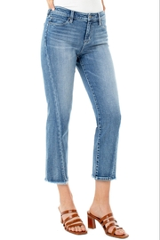 Liverpool  Twisted Front Seam Straight Crop Jean - Product Mini Image